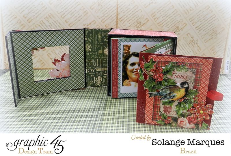 Graphic 45- Core dinations Cardstock- 12 days of Christmas Collection-mini album (5)