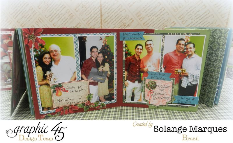 Graphic 45- Core dinations Cardstock- 12 days of Christmas Collection-mini album (11)