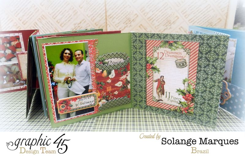 Graphic 45- Core dinations Cardstock- 12 days of Christmas Collection-mini album (12)