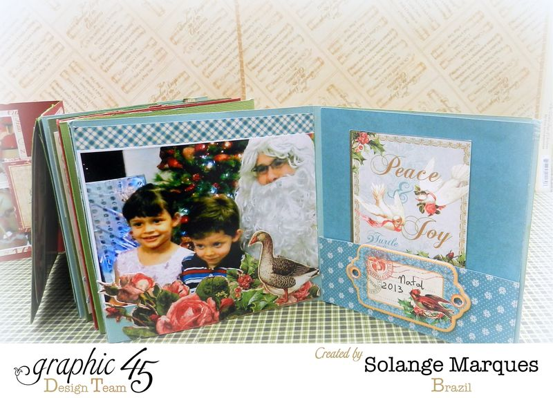 Graphic 45- Core dinations Cardstock- 12 days of Christmas Collection-mini album (13)