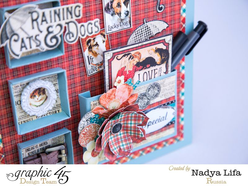 Raining Cats _ Dogs Graphic 45  Table Planner 5