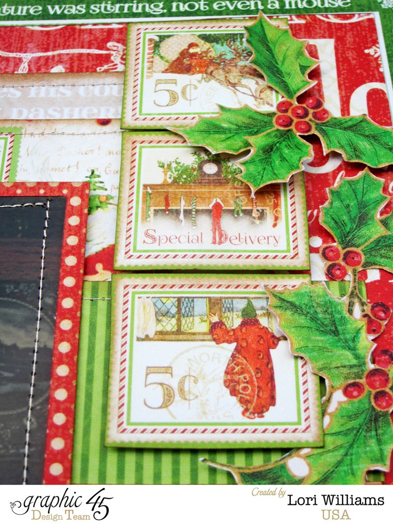 Twas the night before christmas layout close up 2