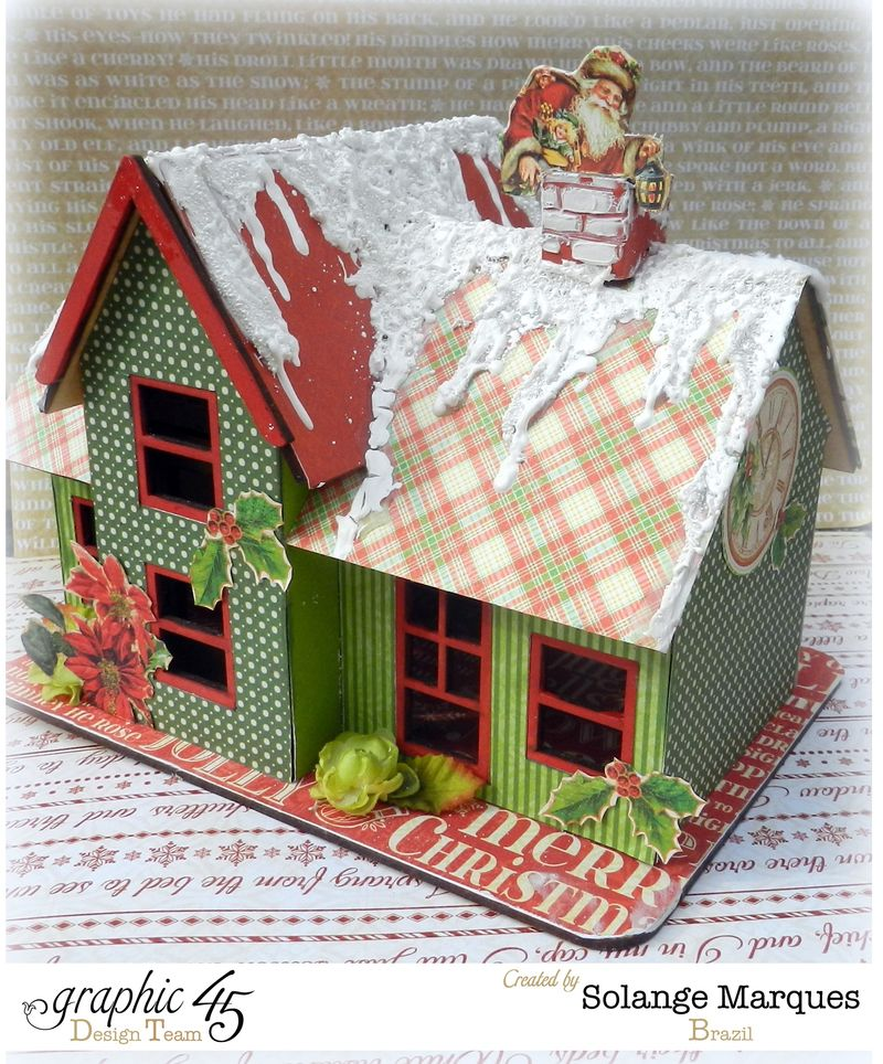 Graphic 45 project- Christmas  House-Twas the Night Before Christmas  (11)