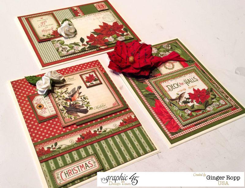 Graphic 45 Time to Flourish Christmas Card Trio 2