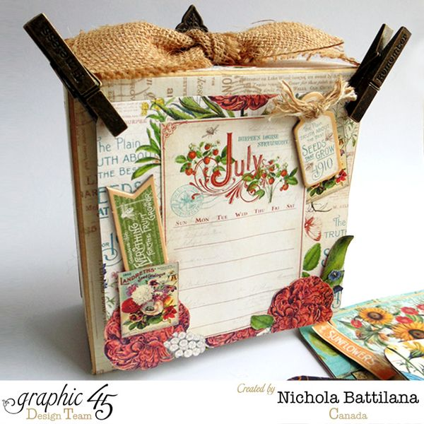 Graphic 45 Time to Flourish Calendar by Nichola Battilana