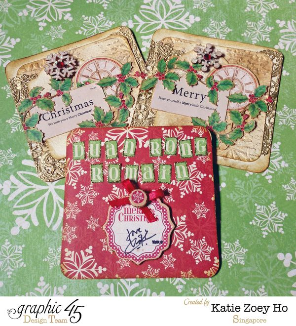 KatieZoeyHo_Graphic45_MixedMediaXmasCards_1