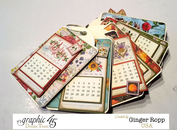 Graphic 45 Time to Flourish Tag Calendar