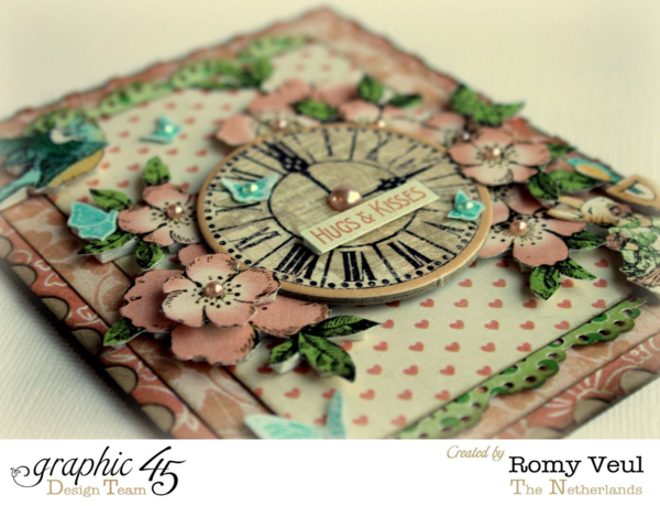 Layering, flowers, and fairies. This card by Romy has it all using Graphic 45 Once Upon a Springtime!