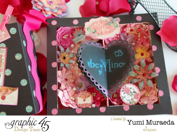 """Make this """"Be Mine"""" card with a Snapguide tutorial from Yumi! Using Graphic 45 Time to Flourish"""