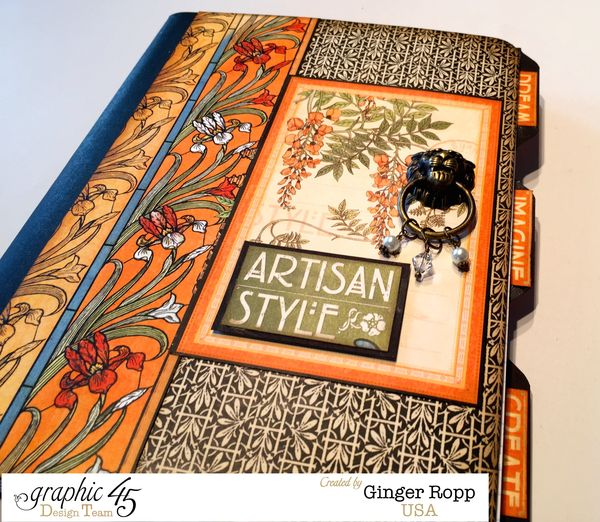 Artisan Style Altered Journal Front Cover Closeup