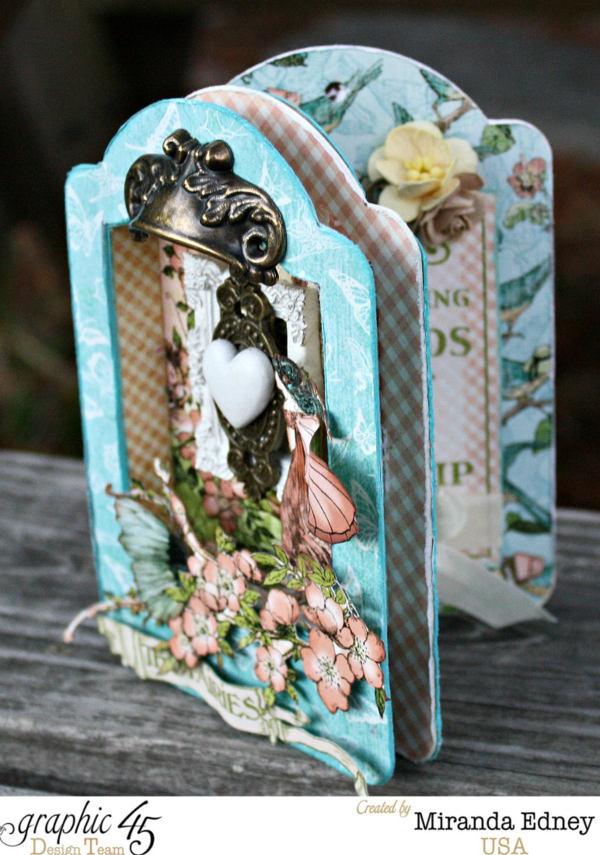 This is one stunning shadowbox Once Upon a Springtime card that you can also create with Miranda's video tutorial! #graphic45