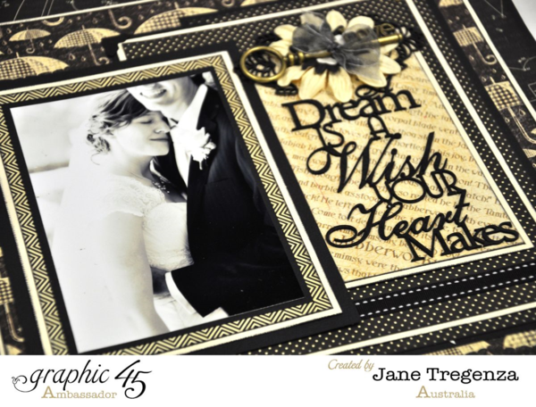 """A Dream is a Wish your Heart Makes"" layout by Jane Tregenza #graphic45"