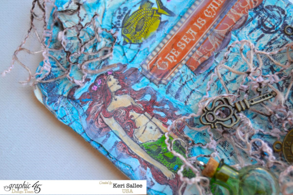 Keri awesomely uses the By the Sea stamps to make this gorgeous tag #graphic45