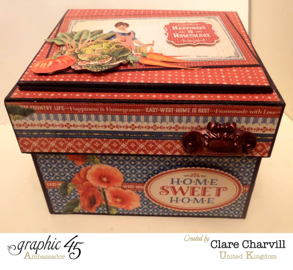 Home Sweet Home Recipe Box by the incredible Clare #graphic45