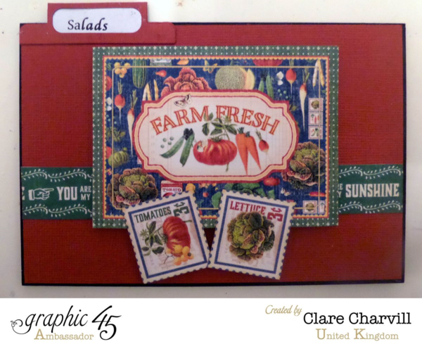 """""""Salads"""" card in Clare's Home Sweet Home Recipe Box! #graphic45"""