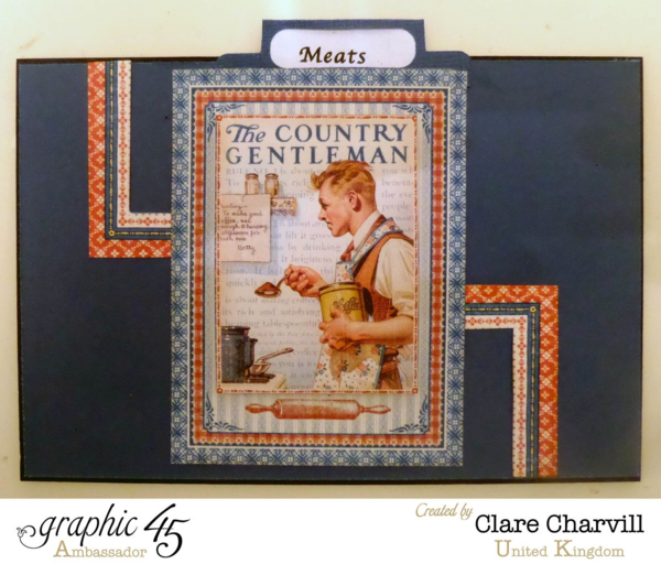 """Meats"" card in Clare's Home Sweet Home recipe box #graphic45"