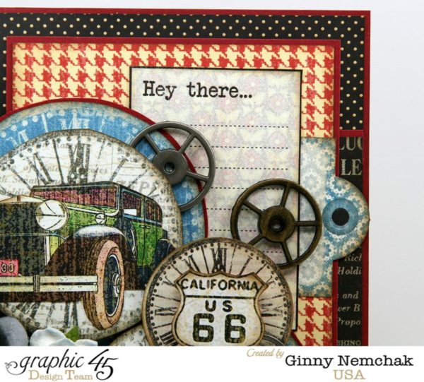 """Hey There"" - this is an awesome Times Nouveau card by Ginny #graphic45"