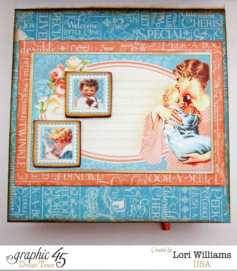 Precious Memories Easel Card with Drawers Graphic 45 Lori Williams interior