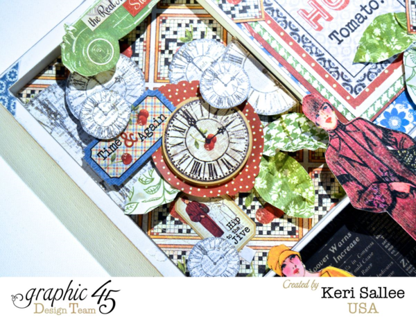 Love the layering and details on this awesome Times Nouveau printer's tray by Keri #graphic45