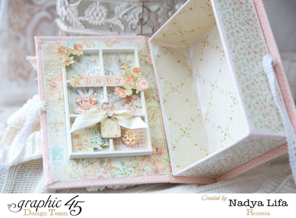 Oh, how glorious! Make this yourself with a tutorial by Nadya using Baby 2 Bride #graphic45