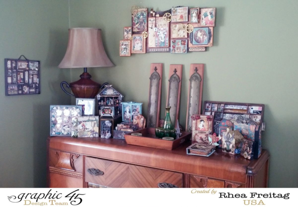 Graphic 45 Art Display Buffet by Rhea Freitag #graphic45