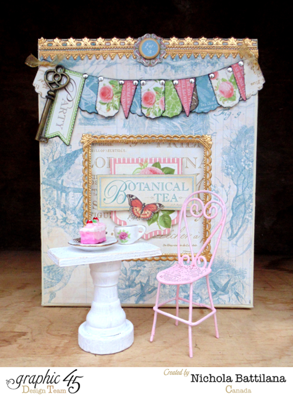 Botanical Tea house by Nichola which you can also create! #graphic45