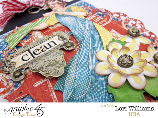 It's the Spellbinders Spring Fever blog hop! Learn how to make this Home Sweet Home soap and tag set by Lori #graphic45