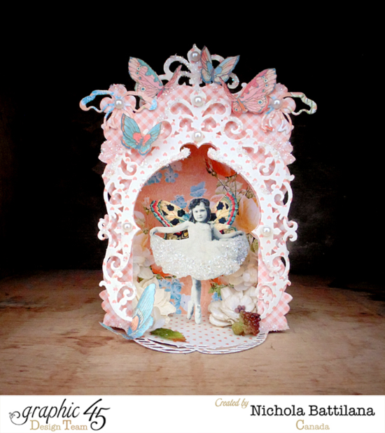 Make this fairy tale stage for yourself with Spellbinders dies, Precious Memories, and Sweet Sentiments! This awesome project by Nichola #graphic45
