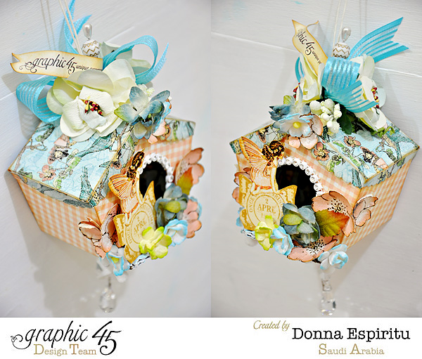 Love these gorgeous birdhouses by Donna using Once Upon a Springtime #graphic45