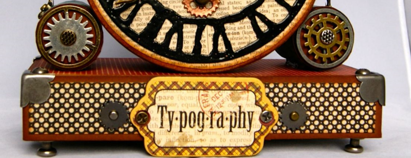 Typography clock 1