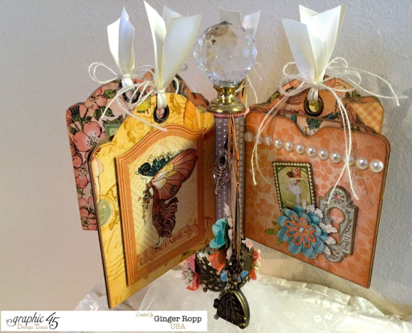 What a gorgeous Once Upon a Springtime carousel mini album by Ginger #graphic45