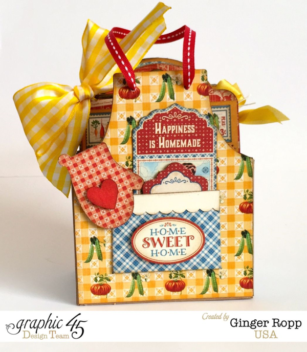 Home Sweet Home Apron Boxed Mini by Ginger #graphic45