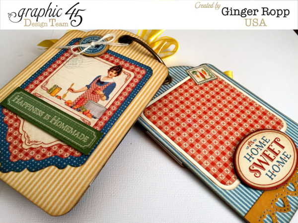 Love Ginger's tags in her Home Sweet Home Apron Mini album! #graphic45