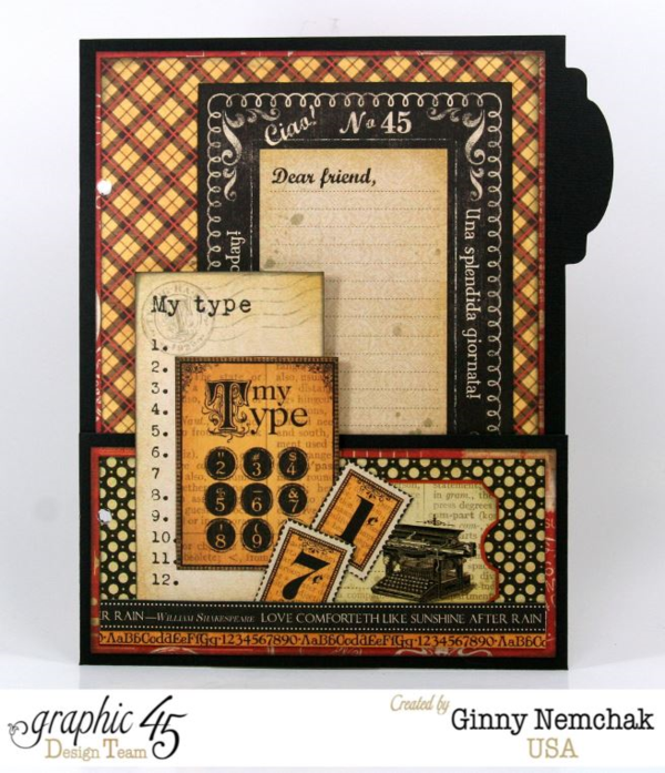 Page 4 of the Typography Mixed Media Planner by Ginny #graphic45