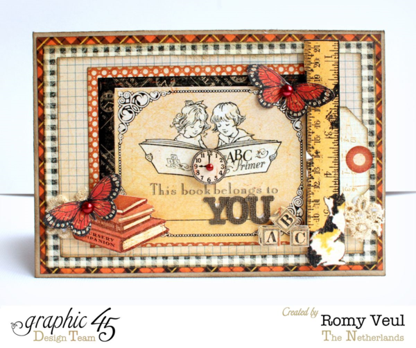 An ABC Primer card by Romy #graphic45