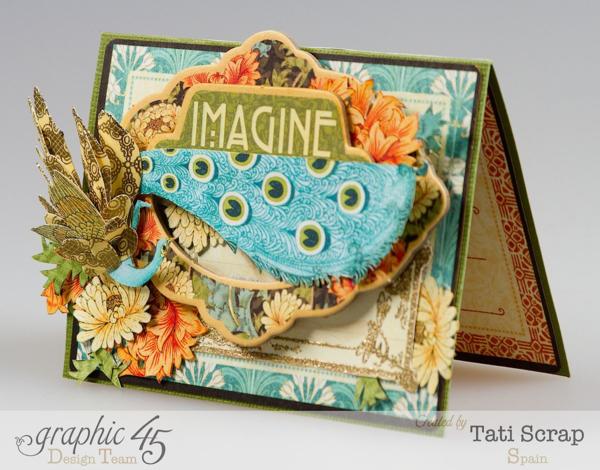 """Imagine"" Artisan Style card by Tati Scrap using Journaling & Ephemera cards #graphic45"