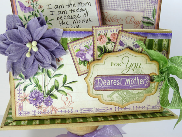 """Dearest Mother"" - show your mom you care with a handmade gift this year! By: Annette Green using Time to Flourish and our ATC Book Box #graphic45"