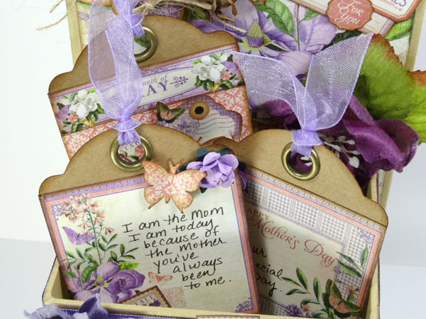 Leave sweet notes for your mother. This idea is from Annette using Time to Flourish and our ATC Book Box #graphic45