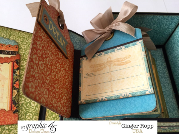 Artisan Style Book Box with gorgeous tags inside by the amazing Ginger! #graphic45
