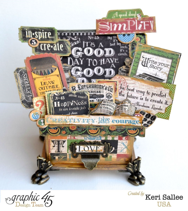 Stunning Typography Idea Box by Keri Sallee using our ATC Book Box #graphic45