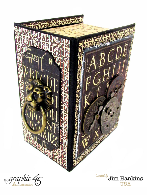 Love the added Lion Knocker on this Artisan Style clock made from an ATC Book Box #graphic45