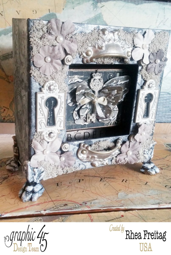 Stunning details on this Mixed Media Box by Rhea #graphic45