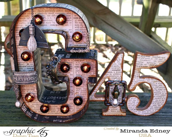 Miranda's marquee G45 sign using Typography! Love! #graphic45