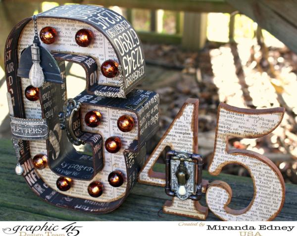 G45 Marquee Sign by the brilliant Miranda Edney #graphic45