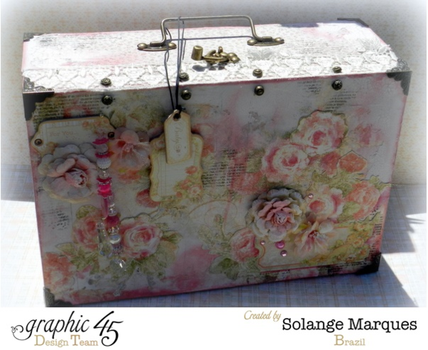 Baby 2 Bride altered suitcase by the amazing Solange Marques #graphic45