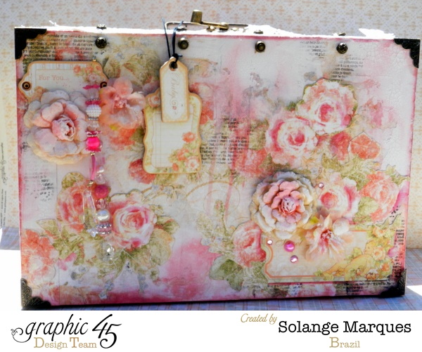 Baby 2 Bride altered mixed media suitcase by the amazing Solange Marques #graphic45