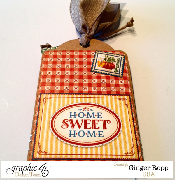 """The back of Ginger's """"Farm Fresh"""" Home Sweet Home tag #graphic45"""