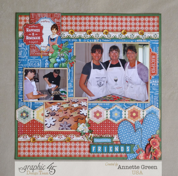 """Friends"" Home Sweet Home layout by the brilliant Annette #graphic45"