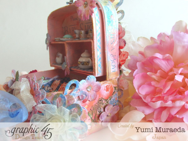 Love the mixed media beauty on this Precious Memories baby shower decoration by Yumi using Precious Memories #graphic45