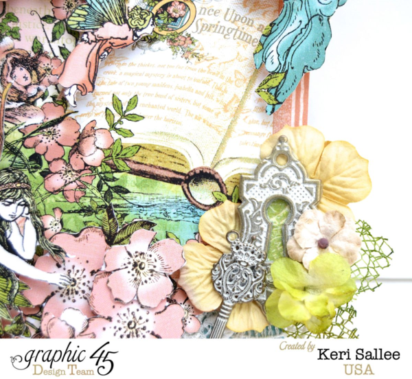 Love the shabby chic staples on this Once Upon a Springtime tag by Keri #graphic45